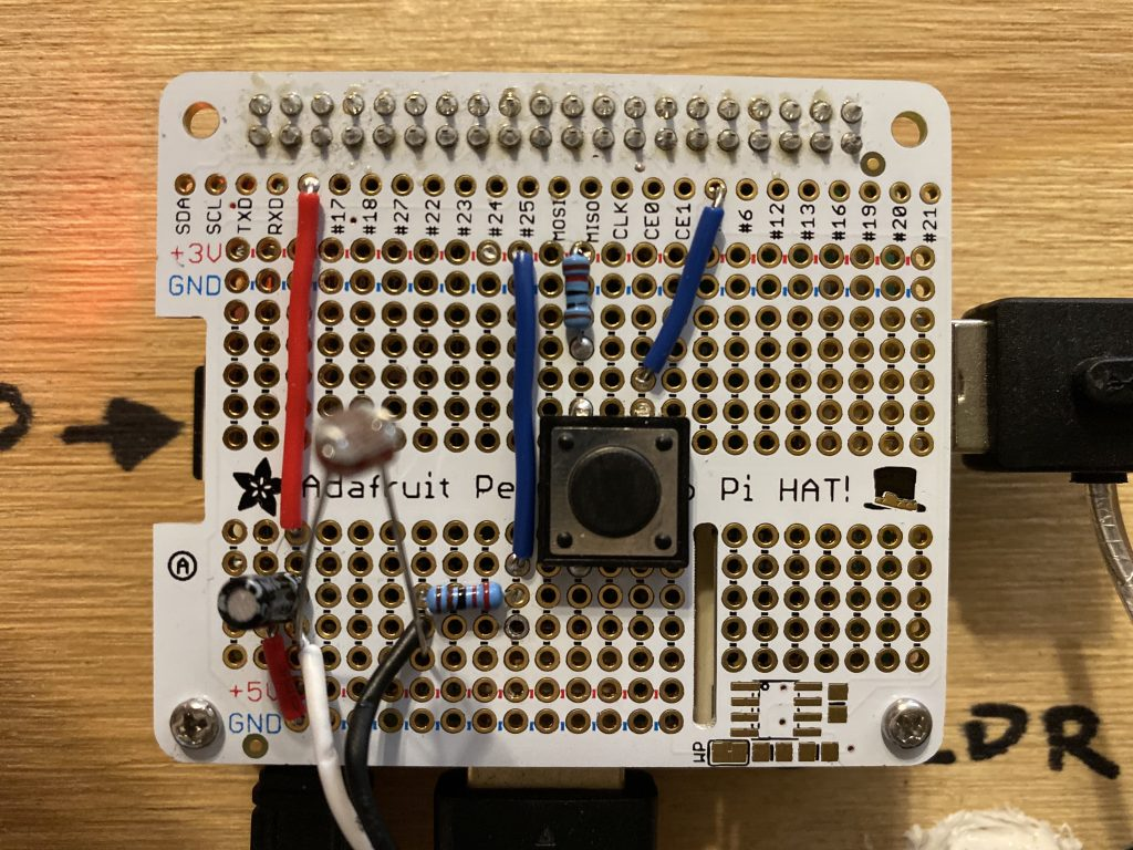 Shutdown button on the Pi Hat