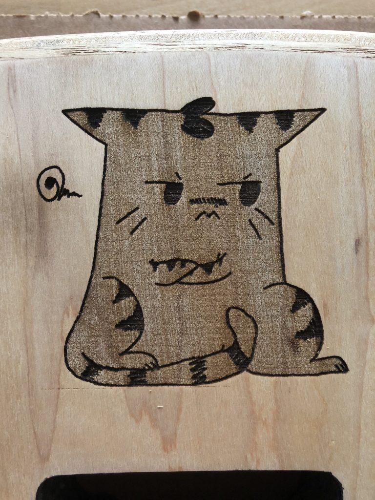 Jayfeather design on the guitar body